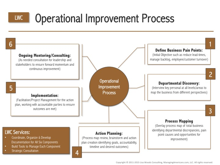 Operational Improvement Process Diagram