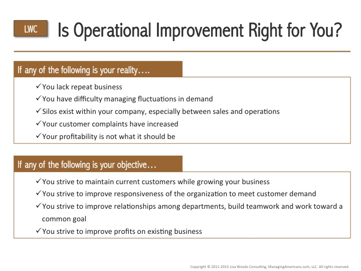 Is Operational Improvement Right For You? - Checklist