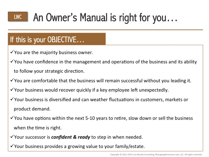 Business Succession Planning Checklist 2